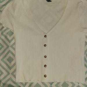 White v neck crop top
